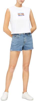 Calvin Klein Jeans Monogram Modern Cropped Sleeveless Tee