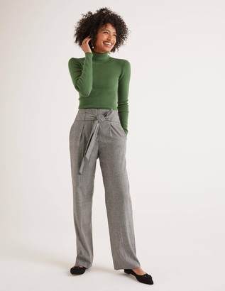 Tweed Tie Waist Trousers