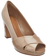 Clarks Artisan Leather Peep-toe Pumps - Jenness Cloud
