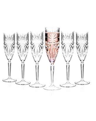 RCR Oasis Crystal Champagne Flutes