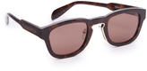 Alexander McQueen Square Metal Detail Sunglasses