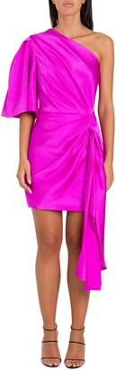 SOLACE London Marcie One-shoulde Mini Dress