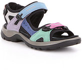 Ecco Women s Yucatan Offroad Multi Colored Banded Outdoor Sandals