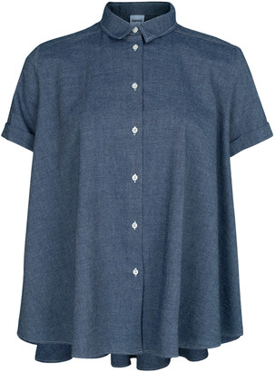 Aspesi Chambray A-Line Button Up Top