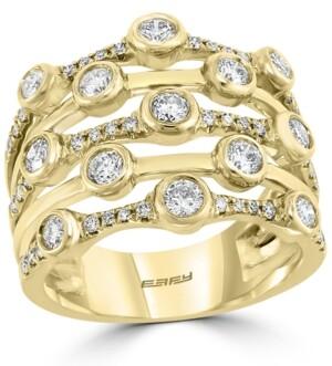 Effy Diamond Multirow Statement Ring (1-1/8 ct. t.w.) in 14k Gold