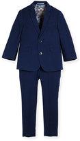 Appaman Modern Two-Piece Tonal Seersucker Suit, Navy, Size 2-14