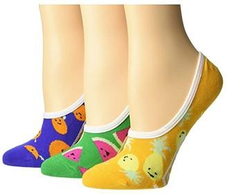 Vans Fruit Bowl Canoodles 3-Pack (Multi) Women's No Show Socks Shoes