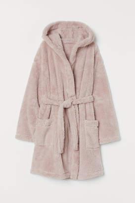 H&M Faux Shearling Bathrobe - Pink