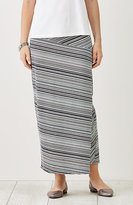 J. Jill Striped Knit Wrap-Style Maxi Skirt