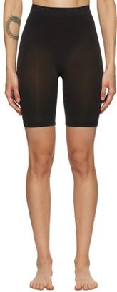 SKIMS Black Seamless Sculpting Mid-Thigh Shorts
