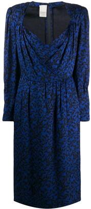 Nina Ricci Pre Owned 1980s Paisley Print Dress