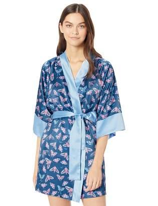 Munki Munki Women's Satin Kimono Robe