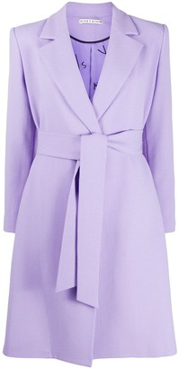 Alice + Olivia Irwin tie-waist tailored trench