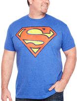Novelty T-Shirts Distressed Superman Short Sleeve Graphic T-Shirt-Big and Tall