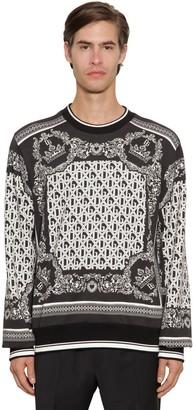 Dolce & Gabbana Bandana Printed Cotton Sweatshirt