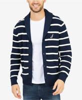 Nautica Men's Stripe Shawl-Collar Cardigan