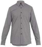 Prada Single-cuff Gingham Cotton Shirt