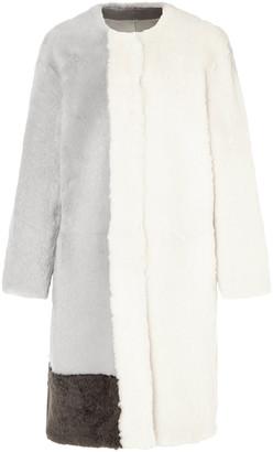 Karl Donoghue Color-block Shearling Coat