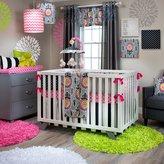 Glenna Jean 4Pc Set (Includes quilt, bumper, pink quatrefoil sheet, crib skirt)
