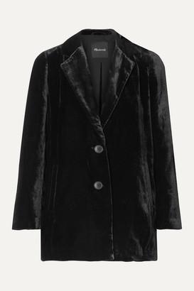 Madewell Velvet Blazer - Black