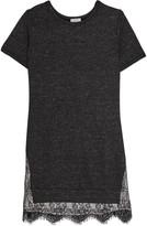 Clu Lace-paneled cotton-blend mini dress