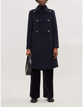 Sandro Wool-blend military coat