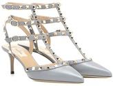 Valentino Garavani Rockstud leather kitten-heel pumps