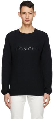 Moncler Black Wool Logo Sweater