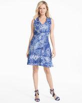 White House Black Market Palm Print Tiered Dress
