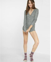 Express one eleven cozy henley romper