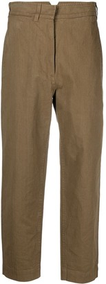 Margaret Howell Cropped Straight-Leg Trousers