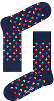 Happy Socks Mini Diamond Socks, One Size, Navy
