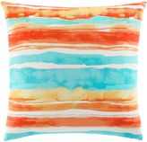 Tommy Bahama Watercolor Stripe Square Throw Pillow