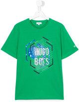 Boss Kids - print T-shirt - kids - Cotton - 16 yrs