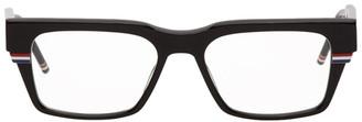 Thom Browne Black Square Acetate Glasses