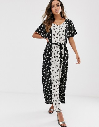 Vero Moda floral panelled maxi dress