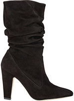 Manolo Blahnik Women's Ruched Artesina Boots-BLACK