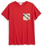 Burberry Boy's Contrast Pocket T-Shirt