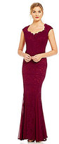 Sangria Lace Sweetheart Neck Gown