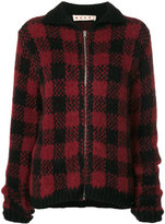 Marni check knitted cardigan