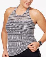 Anne Cole Plus Size High-Neck Crochet Tankini Top Women's Swimsuit