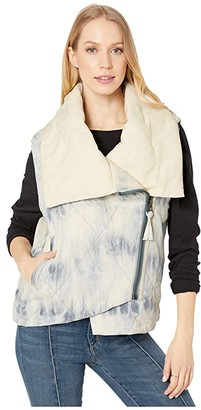 Free People Just A Little Puffer Vest (Light Blue) Women's Clothing