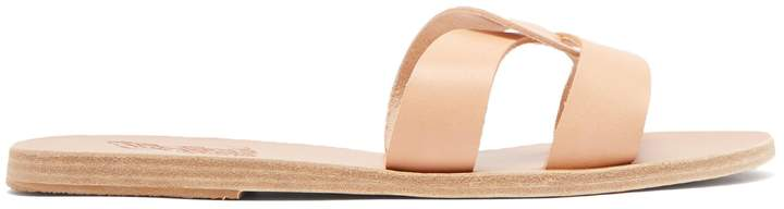 Ancient Greek Sandals Desmos vachetta leather slides