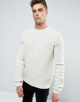 Bellfield Textured Knitted Sweater