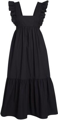 Self-Portrait Frilled Cotton Poplin Dress