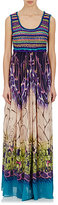 Alberta Ferretti WOMEN'S KNIT-BODICE MAXI DRESS SIZE 42 IT