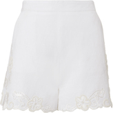 Exclusive for Intermix Kayla Embroidered Linen Shorts