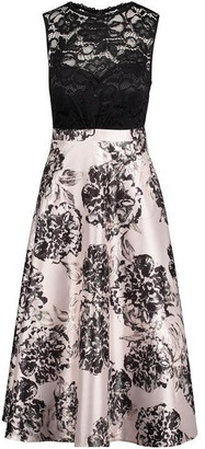 Vera Mont Lace and floral midi dress
