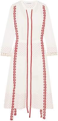 Altuzarra Broderie Anglaise-trimmed Fil Coupe Gauze Midi Dress
