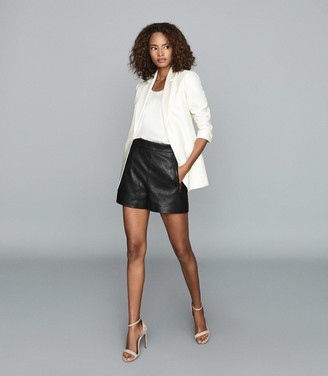 Reiss INDI SINGLE BREASTED BLAZER White